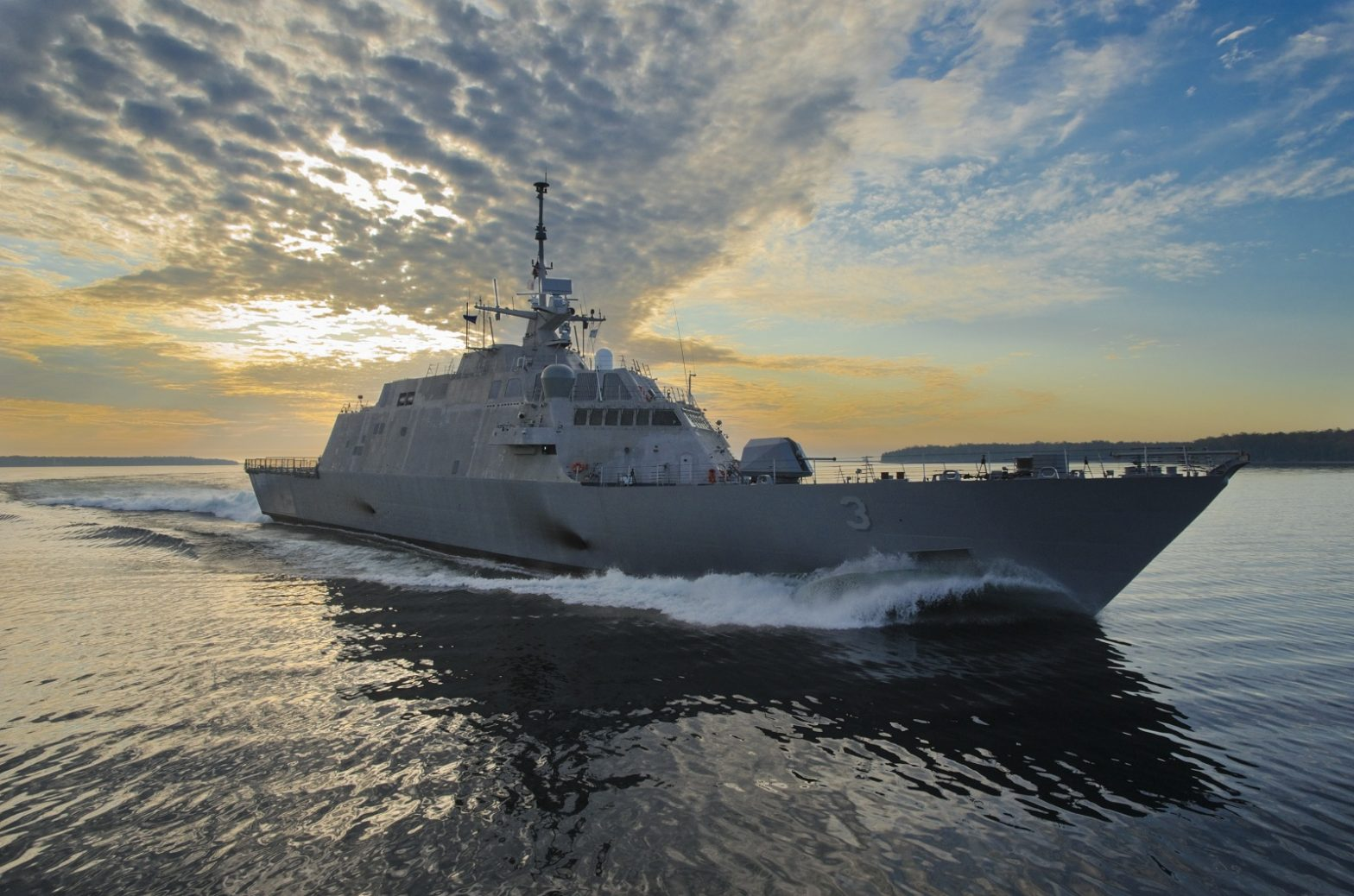 LCS High Speed Trials (USS Milwaukee)