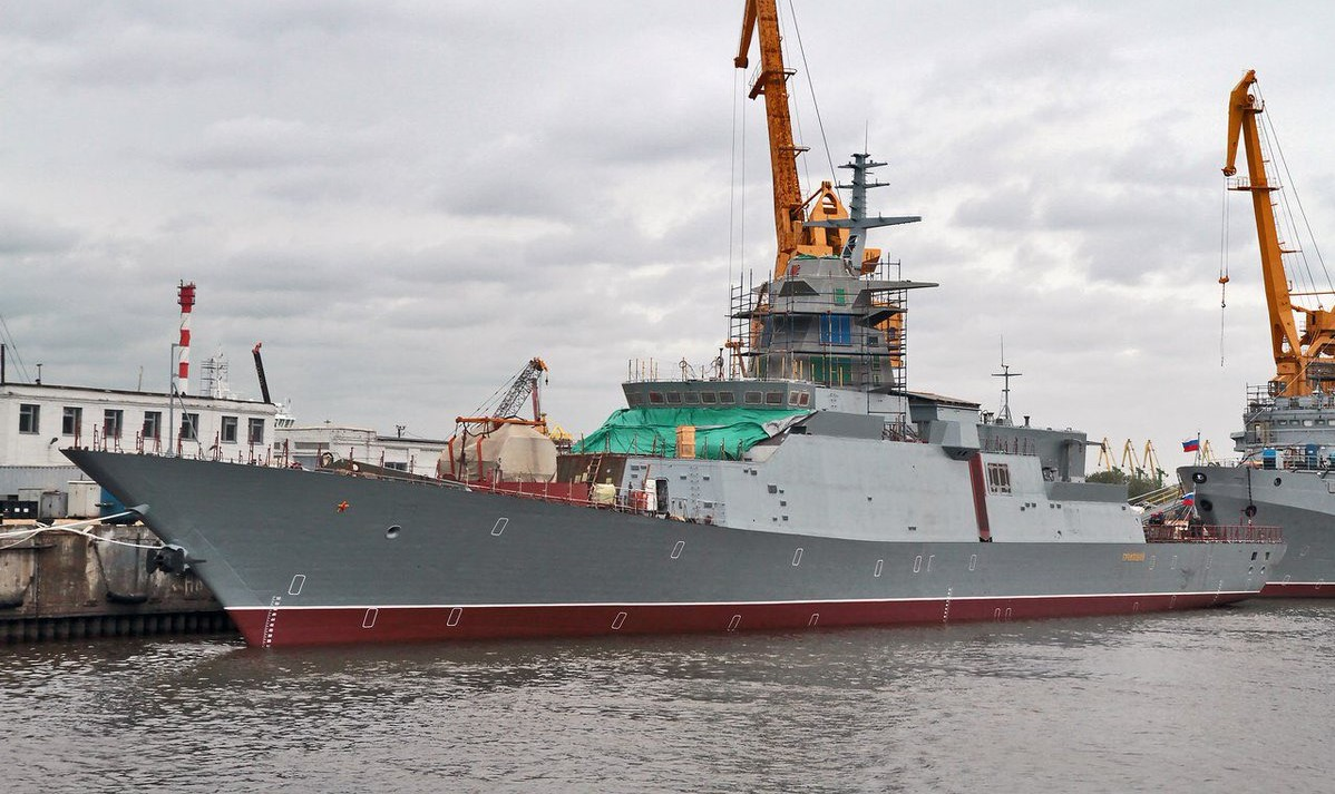 1st ship of Russia's 20385 Corvette Program, Gremyashchy has been launched