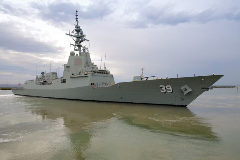 Australia receives first air warfare destroyer
