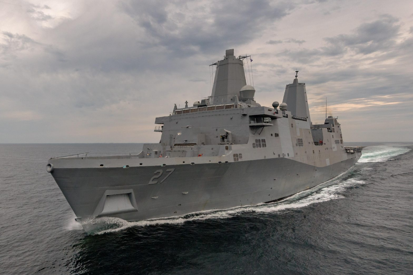 US Navy; The 11th San Antonio-class amphibious warship completed builder's trials