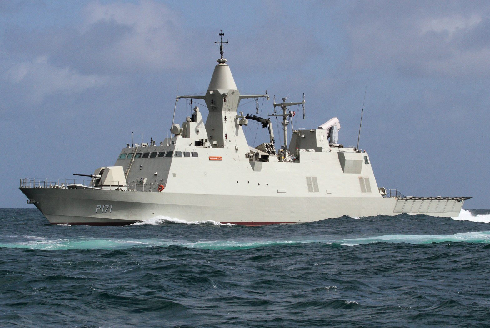 United Arab Emirates Navy Baynunah Class Corvette sea trials