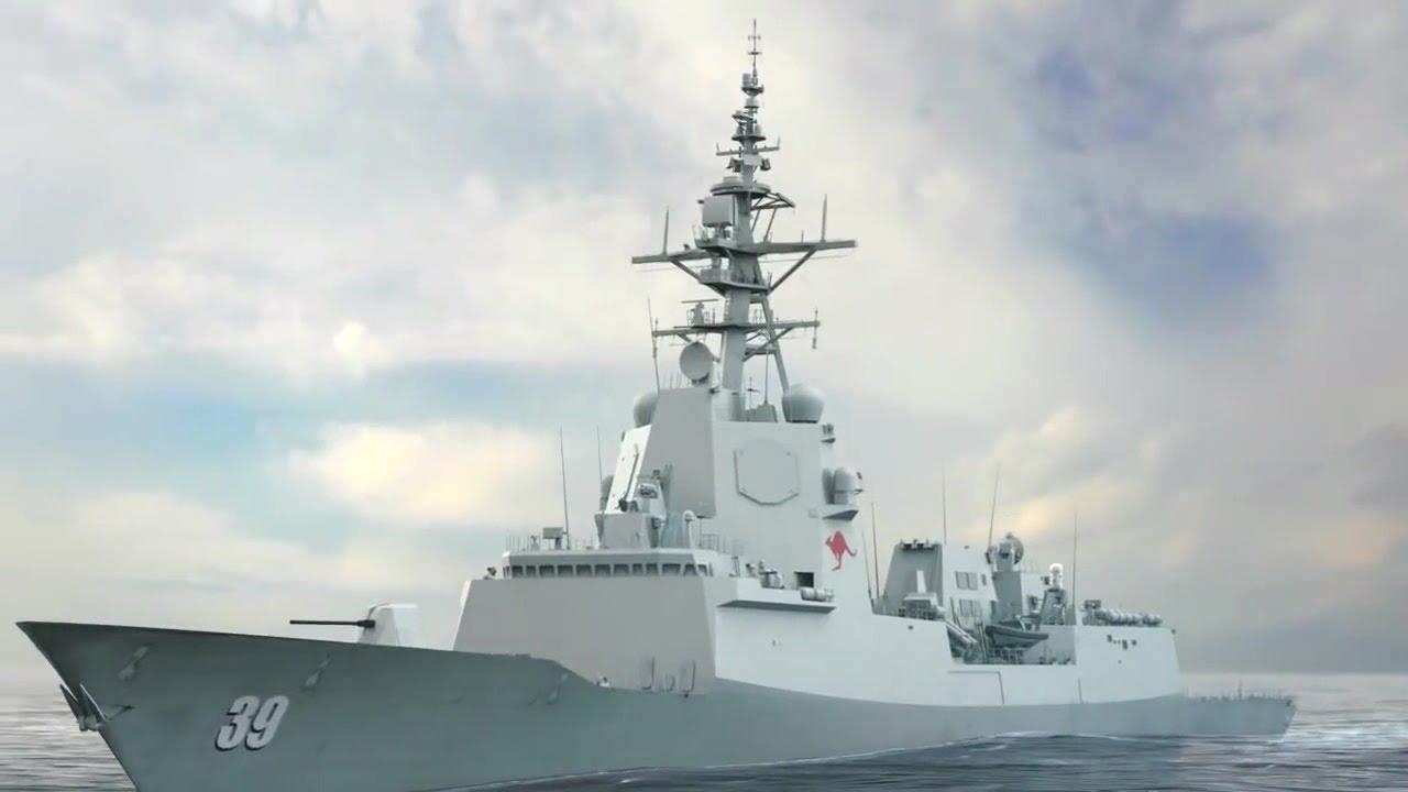 Australian Navy Hobart Class Air-Warfare Frigate Sea Trials