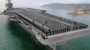 US Navy Supercarrier USS Ford sea trials