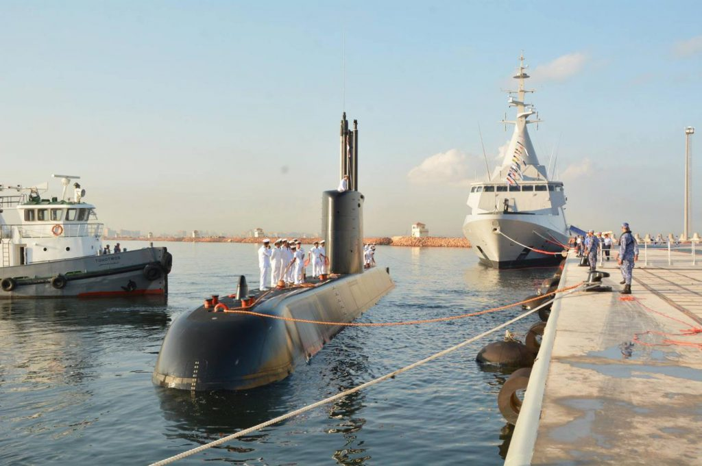 Egypt Navy's new corvette and submarine arrived in Alexandria