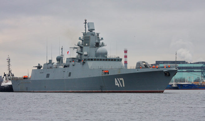 Russian frigate Admiral Gorshkov sea trials