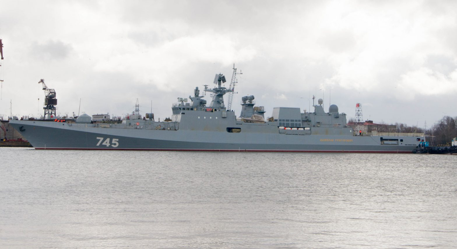 Russian Navy received 3rd Ship of Project 11356 frigate (Admiral Grigorovich Class)