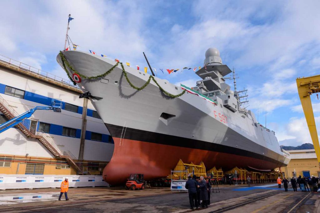 Fincantieri has launched 8th Carlo Bergamini Class (FREMM) Frigate